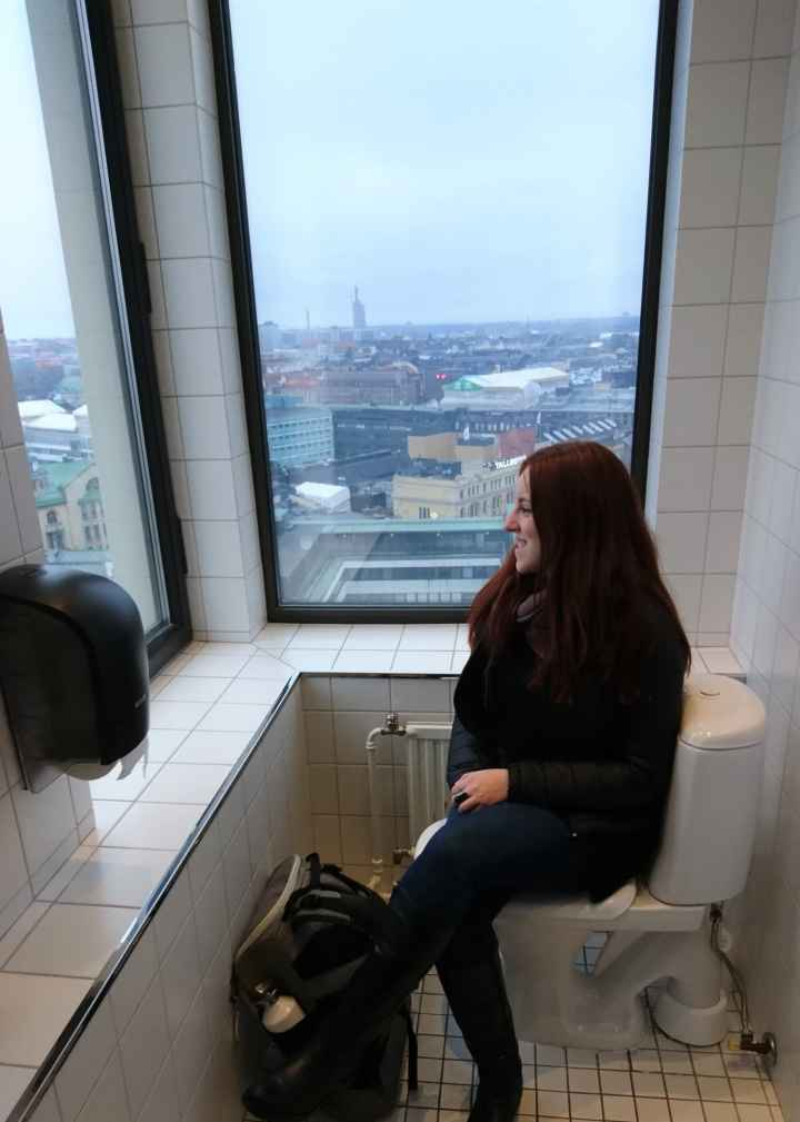 A toilet with a view