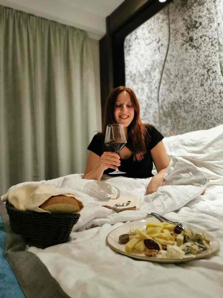 Strange bucket list items: Room service cheese plate