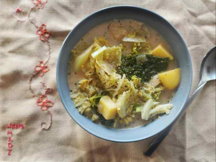 Recipe: Kale soup for veggie days