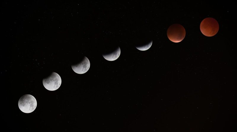 """A lunar eclipse in space, as featured image in the essay """"Look For Things That Don't Change"""" by Ben Parry. This essay touches on ontology, perception, and invariant structure."""