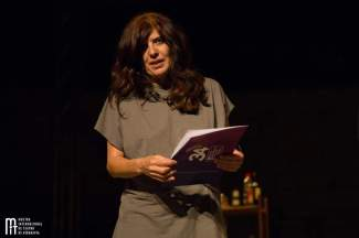 Avelina Pérez foi a gañadora do Premio Abrente, na Mostra de Ribadavia. Foto: Rosinha Rojo.