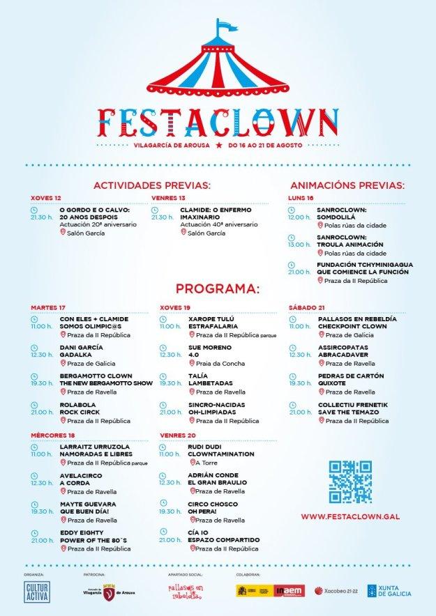 Programación Festaclown Vilagarcía 2021