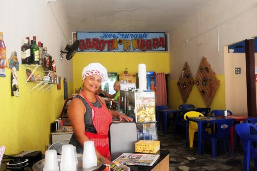Jalma Gomes - proprietária do restaurante Garota de Ponta Negra