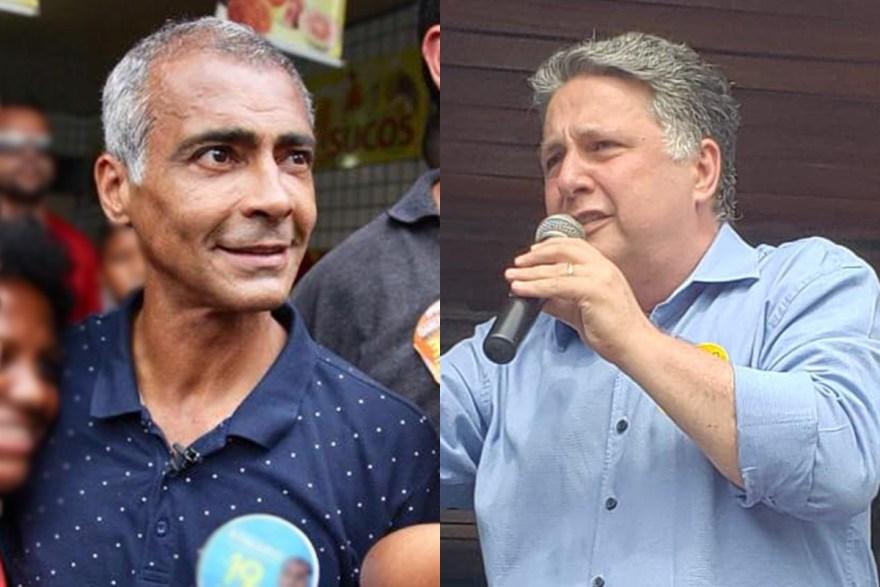 Fotos: Reprodução / Facebook Romário Faria e Anthony Garotinho