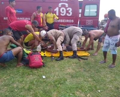 vítima afogamento Ponta Negra