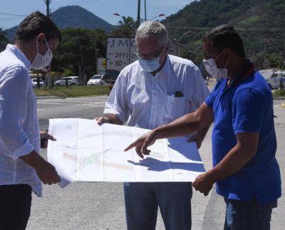 Presidente da Somar, Renato Machado; Secretário de Estado de Transportes, Delmo Pinho; Prefeito Fabiano Horta