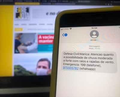 Sistema de Alertas por SMS da Defesa Civil