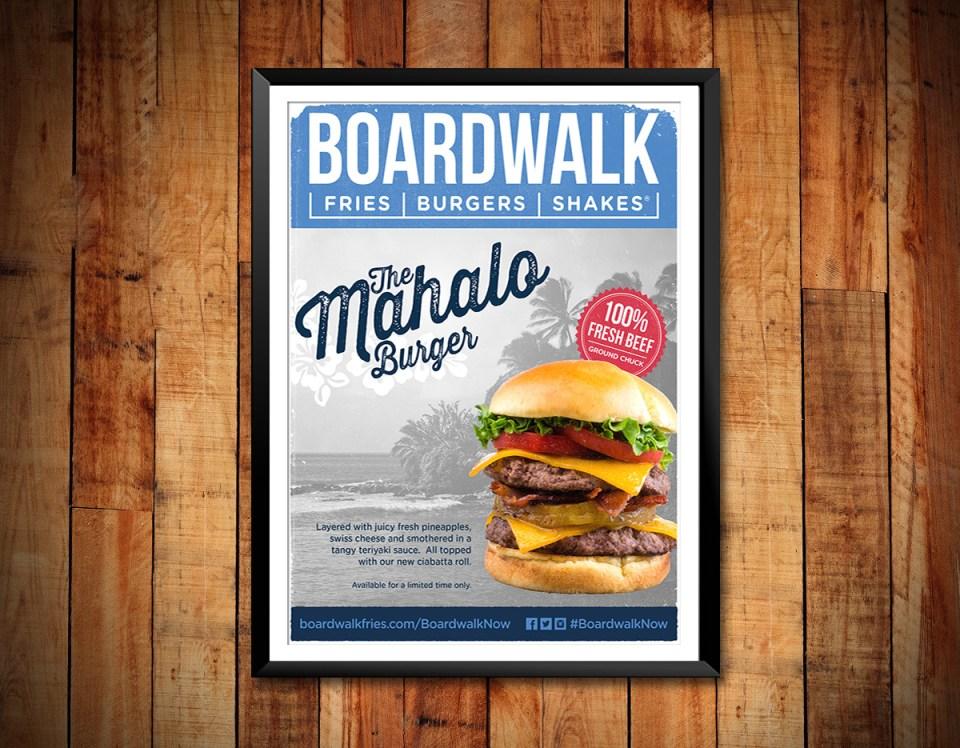 Mahalo Burger ©Boardwalk Fries