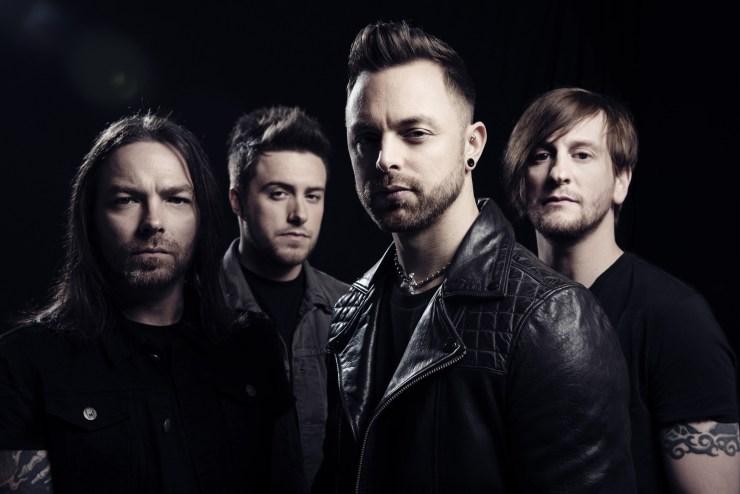 De gauche à droite : Michael Padge (Guitare), Jamie Mathias (Basse, Scream), Matthew Tuck (Guitare, Chant Clair, Scream), Michael Thomas (Batterie)
