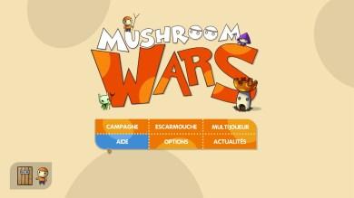 Le menu du jeu, très simpliste.