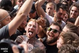Frank Carter au Download festival Error404 par Romain Keller