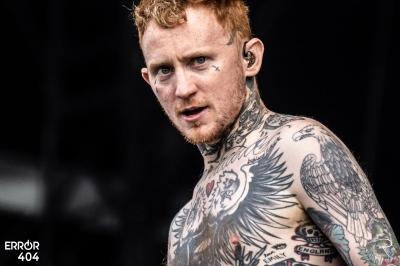 Frank Carter au Download festival Error404 par Romain Keller