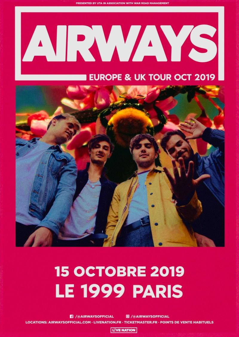 Error404 est partenaire de Live Nation sur le concert d'AirWays à Paris