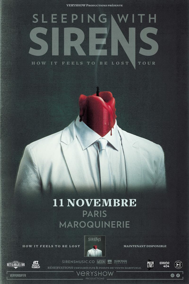 Error404 est partenaire de VeryShow sur le concert de Sleeping With Sirens à Paris