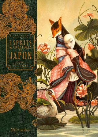 La couverture de l'ouvrage montre un kitsune en kimono