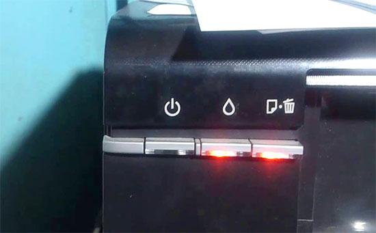 Epson L800 Red Light Both Orange And All Light Blinking