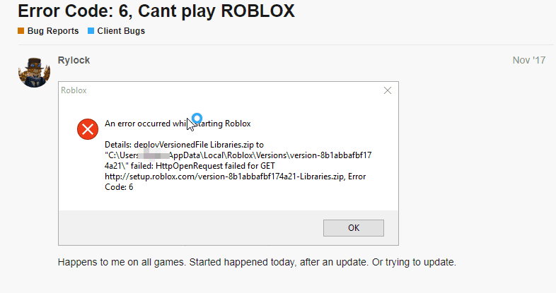 how to fix roblox error