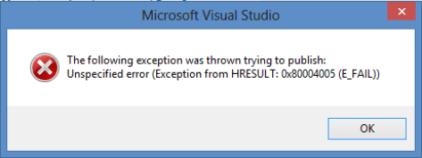 Fix error 0x80004005