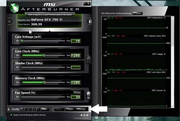 amd afterburner settings