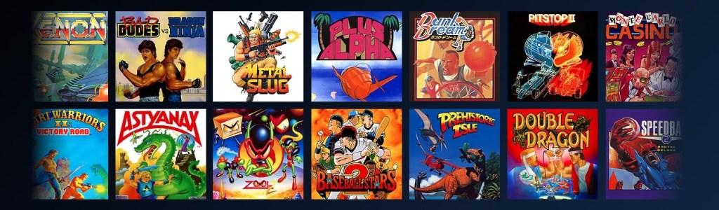 Osa Antstrean Arcade -palvelun sisältämistä peleistä.