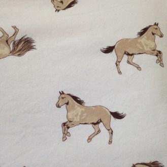 weißer Jersey mit Pferden aus Baumwolle/Elastan