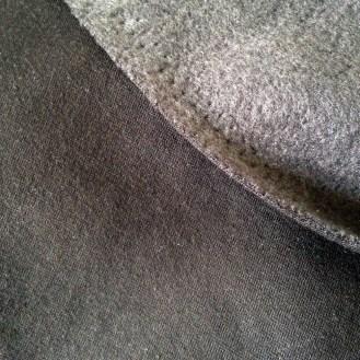 dunkelbrauner Sweat mit angerauter Innenseite aus Baumwolle/Polyester