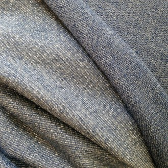blauer Glitzer-Jersey aus Viskose/Polyester