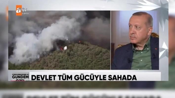 Erdoğan: Yerleşim bölgelerindeki yangın, büyükşehir belediyelerinin sorumluluğundadır
