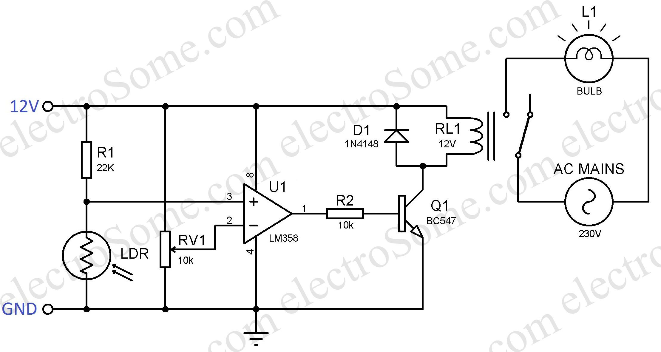 Automatic Porch Light Circuit Diagram Porches Ideas