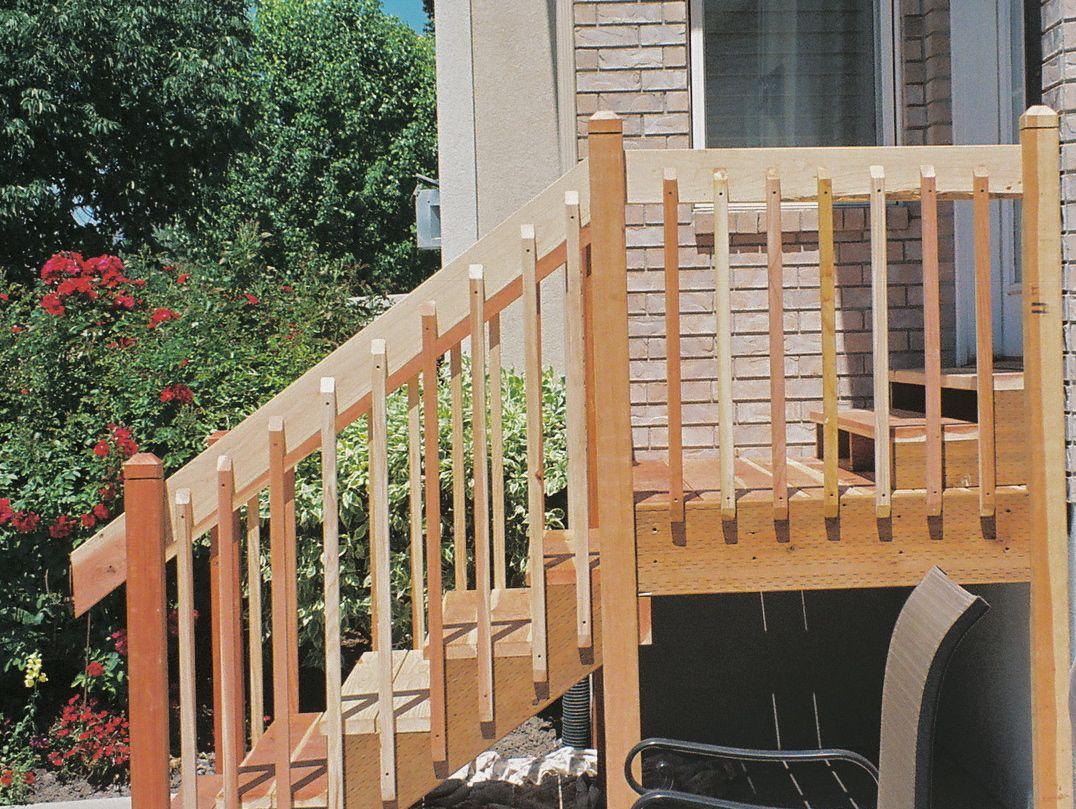 Exterior Wood Handrail Designs