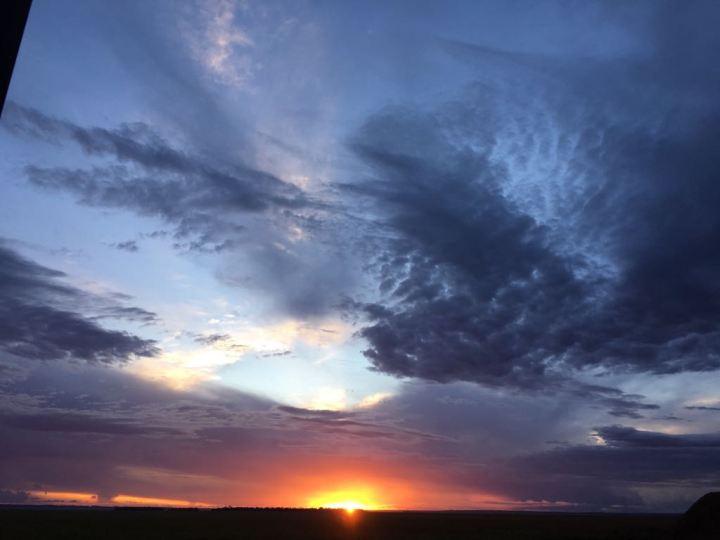 Sonnenuntergang in Asuncion