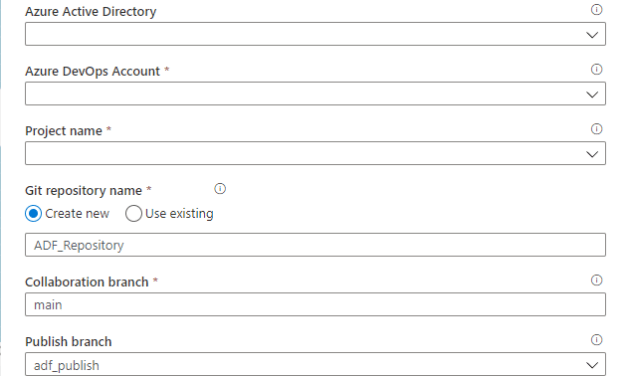How to setup Code Repository in Azure Data Factory