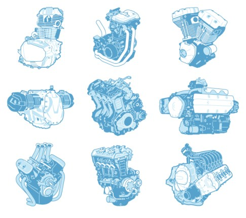 motorcycles engines