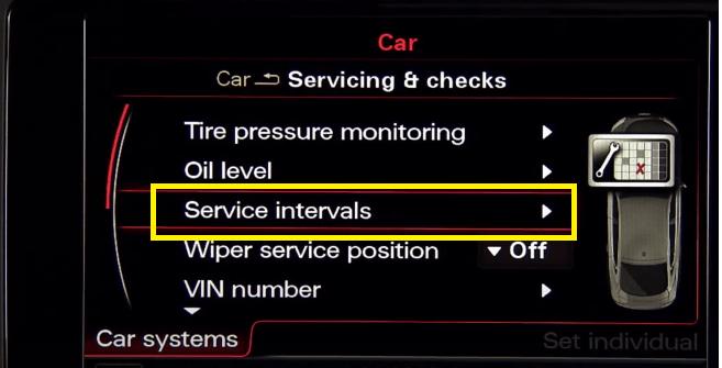 Audi Service Interval