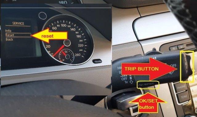 Volkswagen Passat - select resetVolkswagen Passat - select reset
