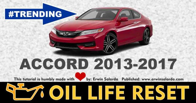 How To Reset Honda Accord 2013 2017 Oil Service Wrench Light