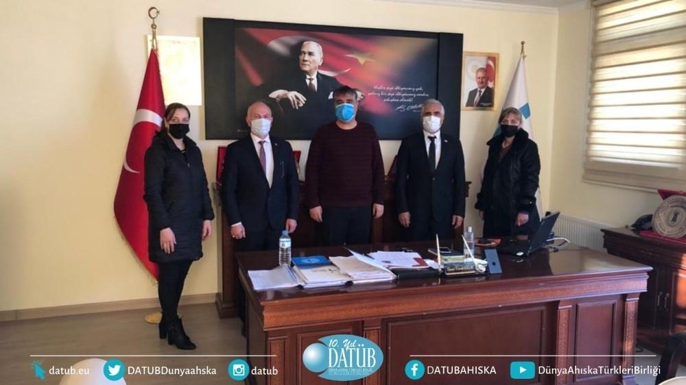 DATÜB heyeti, İŞKUR Müdürü Çelik'i ziyaret etti