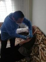 Erzincan'da 104'lük dede, 2. doz aşısını oldu