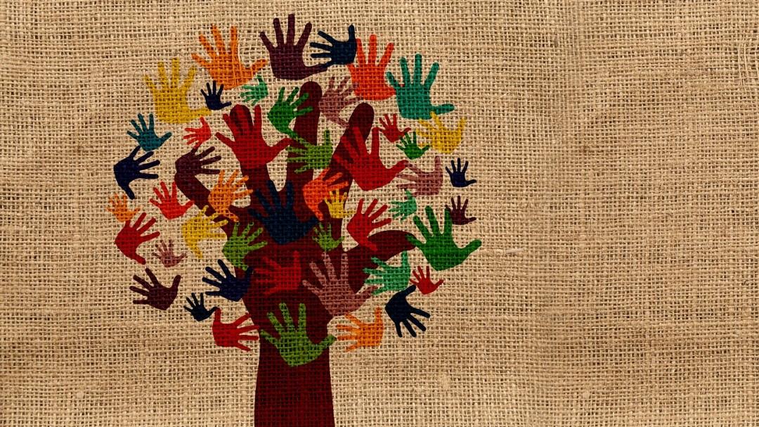 Fairtrade boom met handen