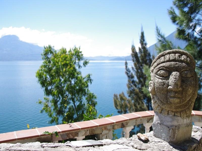 Heerlijk uitzicht op Lago de Atitlán, Guatemala