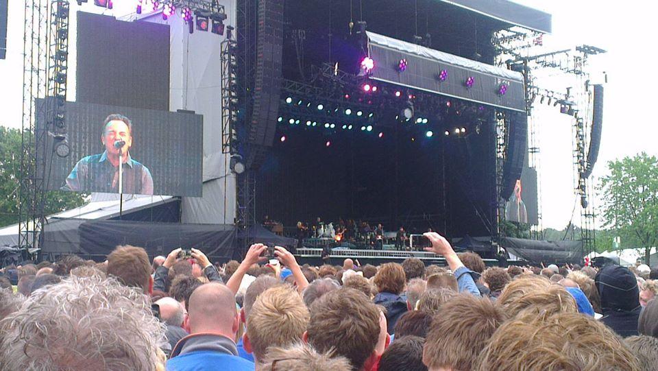 Prima uitzicht op het podium tijdens mijn muziekherinnering 'for life'