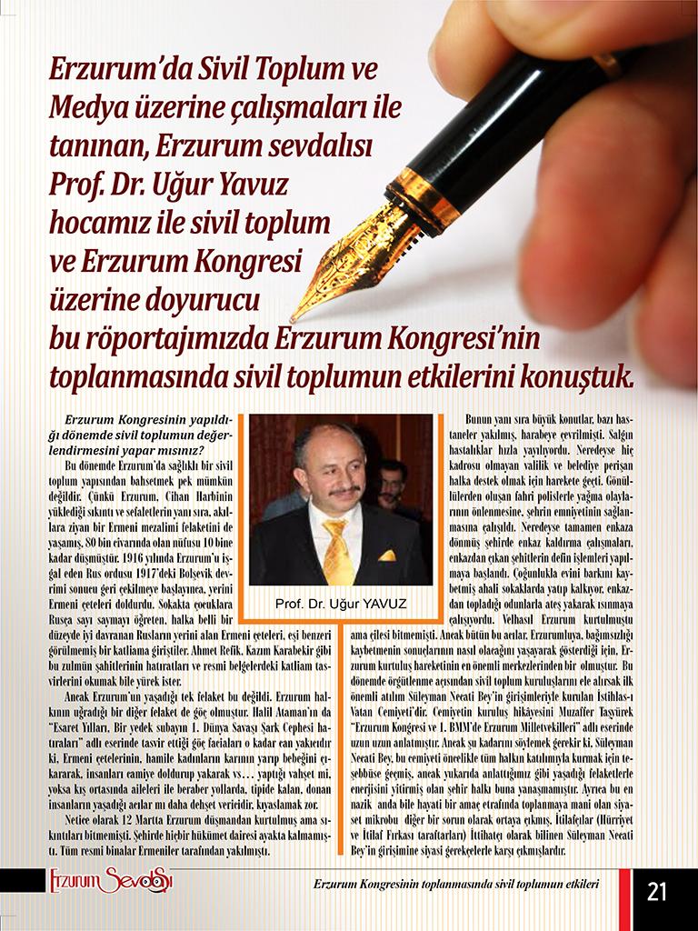 Erzurum Kongresinin toplanmasında sivil toplumun etkileri
