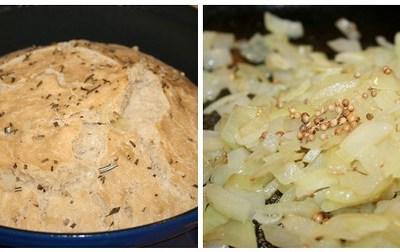 Zuurdesem Bier Brood met ui en korianderzaadjes
