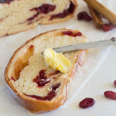 Recept cranberry rum kaneel brood