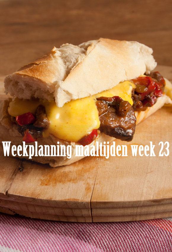 Weekplanning maaltijden week 23