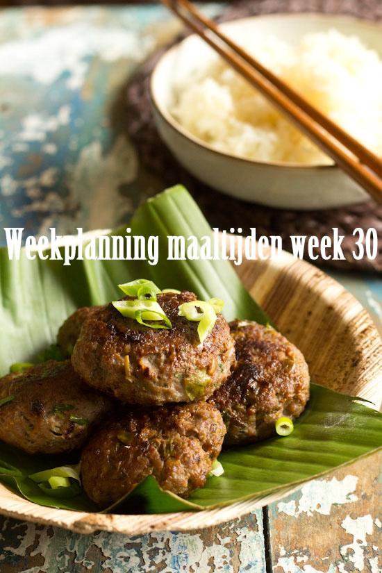 Weekmenu maaltijden week 30