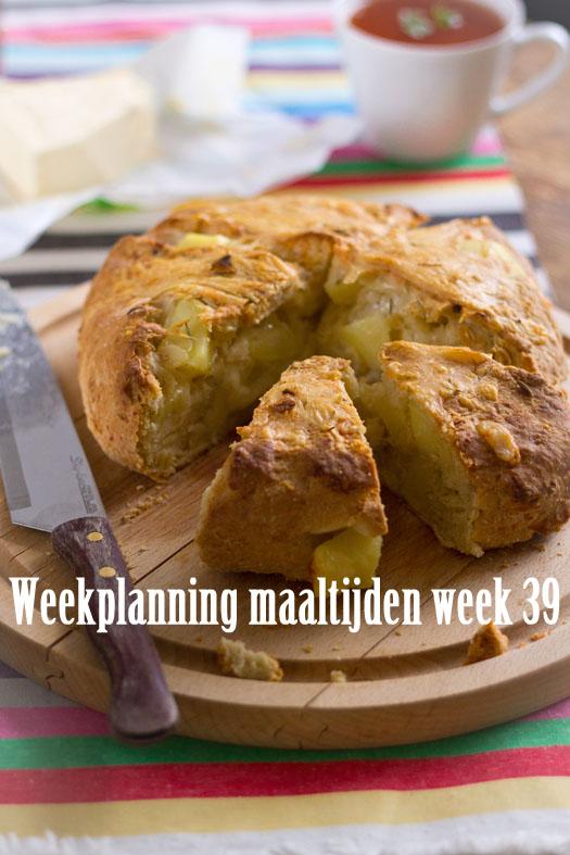 Weekplanning maaltijden week 39