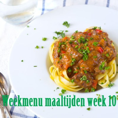 Weekmenu maaltijden week 10