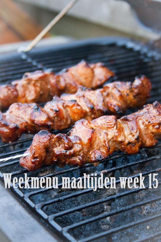 Weekmenu maaltijden week 15