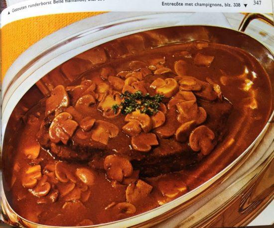 Recept gegrilde biefstuk met champignonsaus